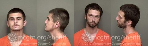 (L to R) Gavin Ray Oliver and Jacob Scott Knight were arrested Monday by Clarksville Police for burglary of a vehicle.