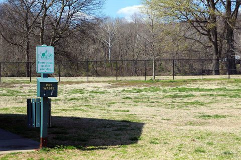 The gate for the King's Run Bark Park at Liberty Park has been repaired.