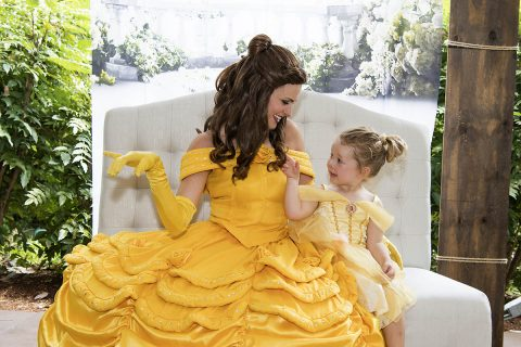 Belle greets her guest at Meet Me at the Zoo: Princesses at Nashville Zoo. (Caitlin Harris)