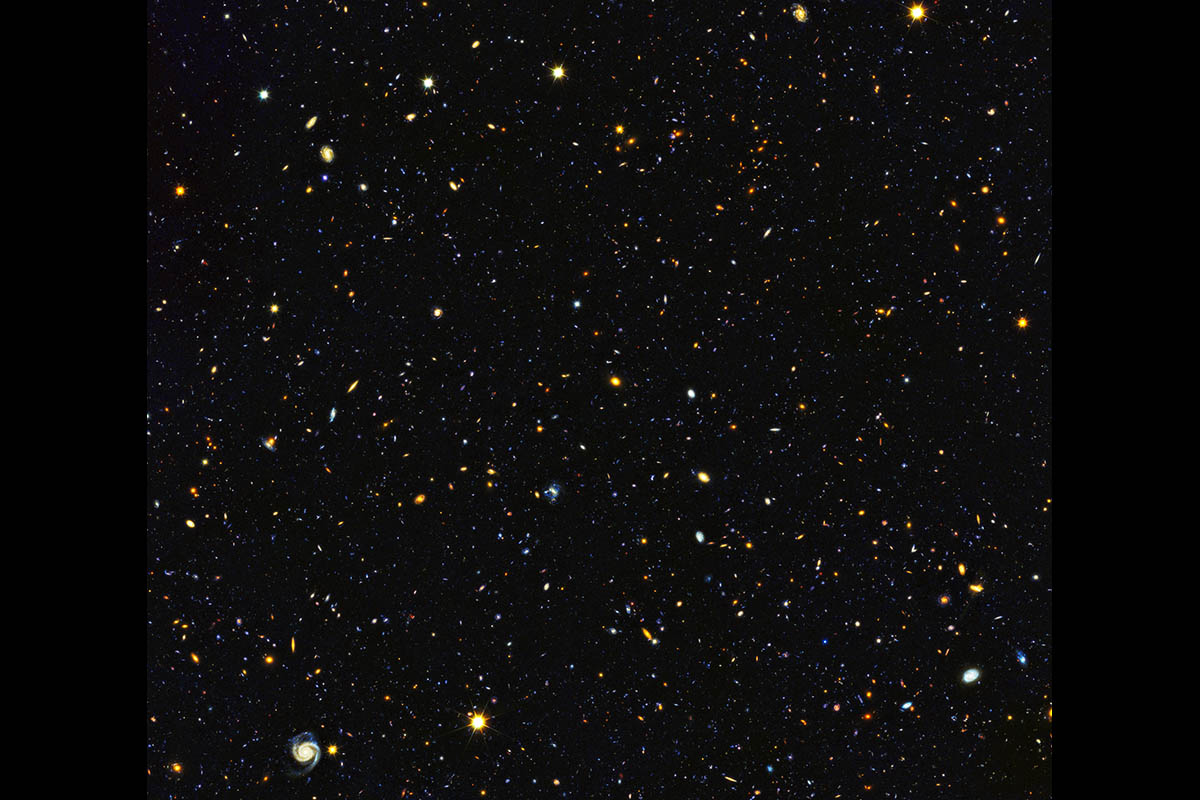 Astronomers have just assembled one of the most comprehensive portraits yet of the universe's evolutionary history, based on a broad spectrum of observations by the Hubble Space Telescope and other space and ground-based telescopes. (NASA, ESA, P. Oesch (University of Geneva), and M. Montes (University of New South Wales))