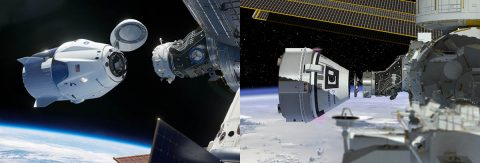 NASA's Commercial Crew Program is working with the American aerospace industry as companies develop a new generation of spacecraft and launch systems to carry crews safely to and from low-Earth orbit – the SpaceX Crew Dragon and Boeing CST-100 Starliner. (NASA)
