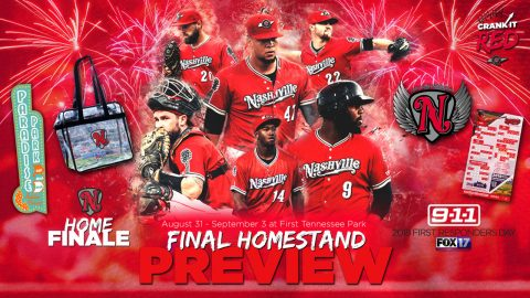 Two Fireworks Shows, Paradise at the Park, Labor Day Weekend Celebration Highlight Nsahville Sounds Homestand. (Nashville Sounds)