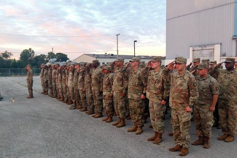 "Soldiers assigned to 101st Sustainment Brigade, 101st Airborne Division (Air Assault), conduct preparations and deploy in support of Hurricane Florence relief efforts, Sept. 14, at Fort Campbell, Kentucky. The ""Screaming Eagle"" Soldiers will provide logistics and transportation to assist FEMA and other relief agencies. (Pfc. Beverly Roxane Mejia)"