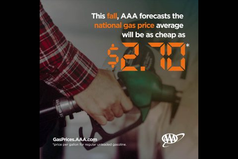AAA National Gas Price FAll Forecast