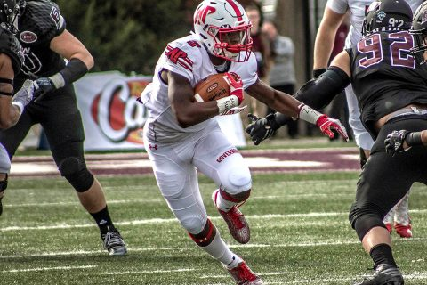 Austin Peay Football running back Kentel Williams rushes for 181 yards and scoress four touchdowns in 78-40 win over Morehead State. (APSU Sports Information)