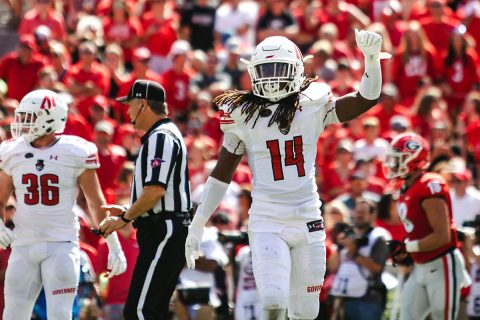 Austin Peay Football loses to nationally ranked Georgia Saturday afternoon. (APSU Sports Information)
