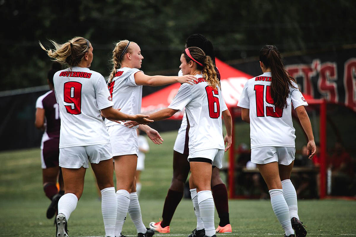 Austin Peay Women's Soccer hits to road to face Mercer Friday then returns home Sunday to take on Chattanooga. (APSU Sports Information)
