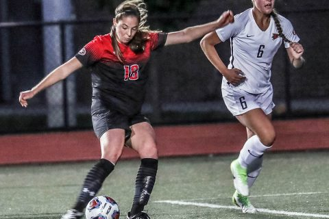 Austin Peay Women's Soccer was able to beat Chattanooga 2-1 under wet conditions Sunday at Morgan Brothers Soccer Field. (APSU Sports Information)