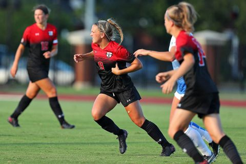Austin Peay Women's Soccer gets 1-0 win over Tennessee Tech Sunday at Morgan Brothers Soccer Field for first OVC of the season. (APSU Sports Information)