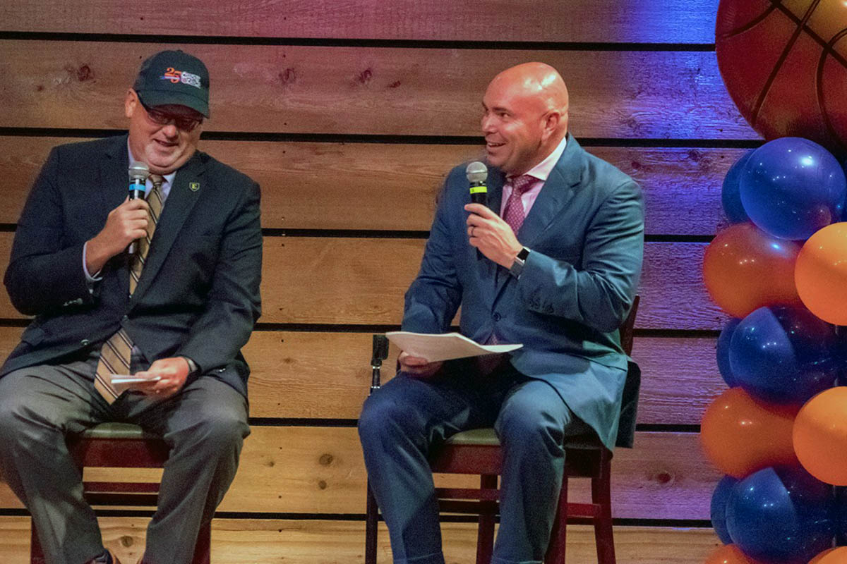 Austin Peay Men's Basketball head coach Matt Figger at the American Cancer Society's Coaches vs. Cancer event in Nashville. (APSU Sports Information)