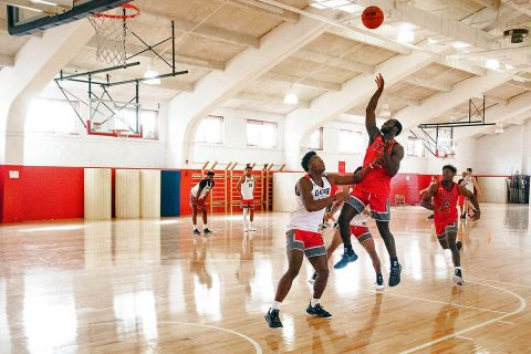Austin Peay Men's Basketball holds first fall practice at the Red Barn. (APSU Sports Information)