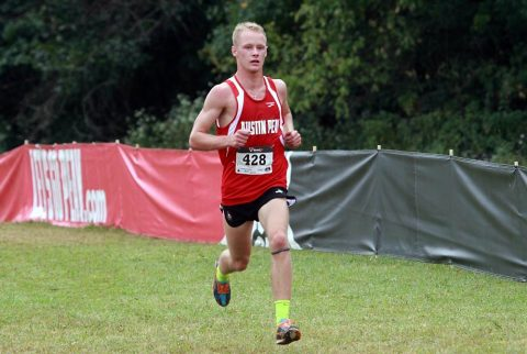 Austin Peay Men's Cross Country senior Wesley Gray gets top 10 finish at Alabama-Huntsville Chargers Open Sunday. (APSU Sports Information)