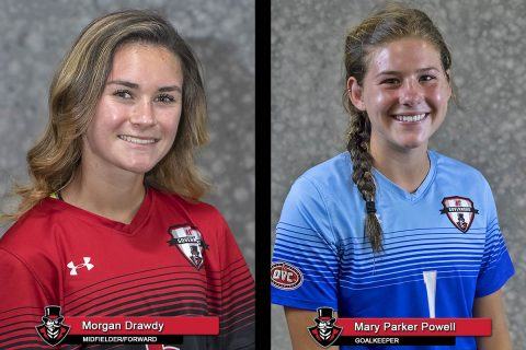 2018 APSU Soccer - Morgan Drawdy and Mary Parker Powell
