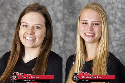 2018 APSU Volleyball - Brooke Moore and Kristen Stucker