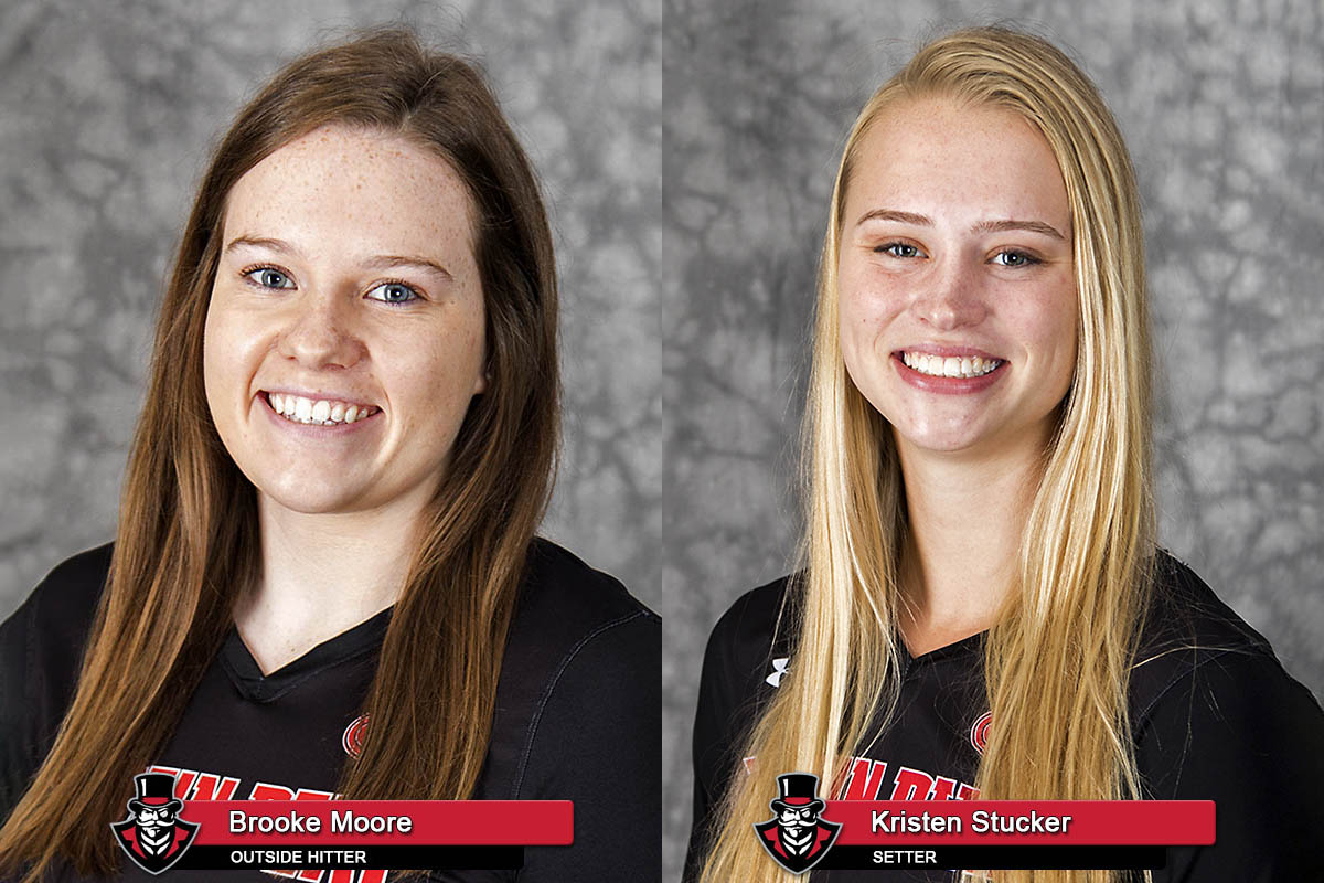 2018 APSU Volleyball - Brooke Moore and Kristen Stucker