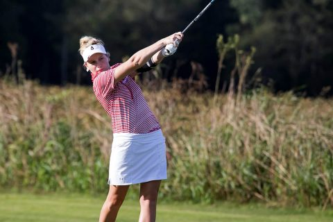 Austin Peay Women's Golf freshman Taylor Dedmen and junior Meghann Stamps finish Chris Banister Classic in the Top 10. (APSU Sports Information)