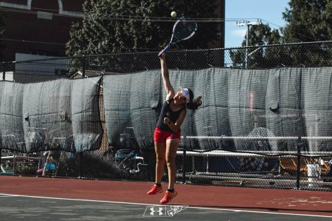 Austin Peay Women's Tennis junior Lida Yanes Garcia falls in first round of Oracle ITA Masters, Thursday. (APSU Sports Information)
