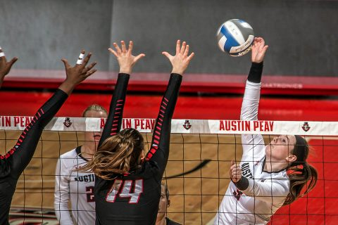 Austin Peay Women's Volleyball gets three set win over Middle Tennesse Friday night in Murfreesboro. (APSU Sports Information)
