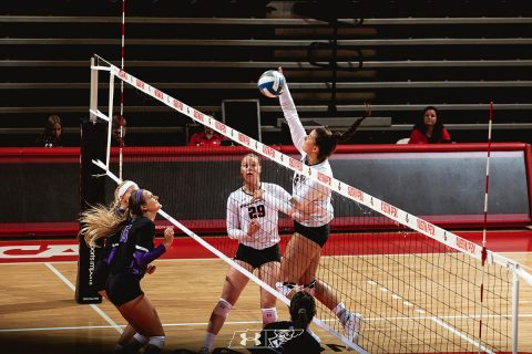 Austin Peay Women's Volleyball Middle Blocker Kaylee Taff was named the MTSU Blue Raider Bash tournament's most valuable player. (APSU Sports Information)