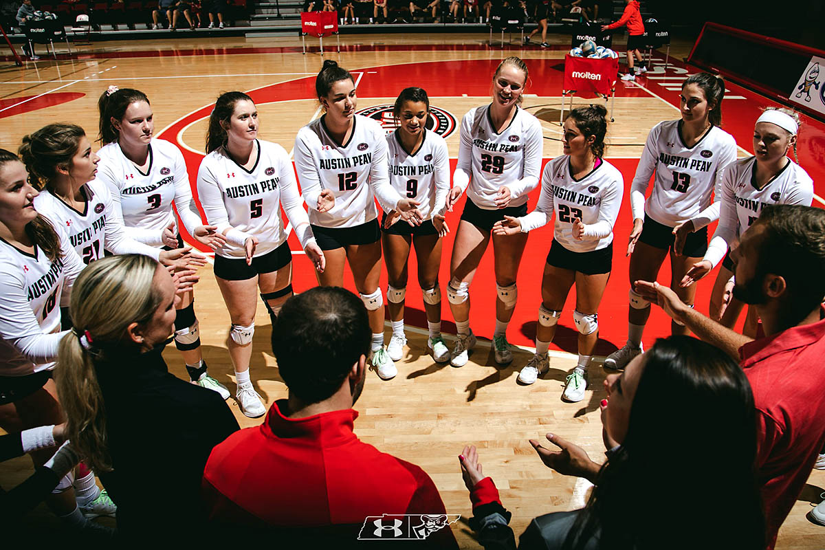 Austin Peay Women's Volleyball beats McNeese Friday afternoon to remain unbeated at Rice adidas Invitational. (APSU Sports Information)