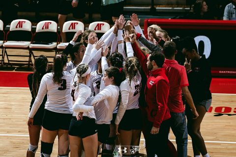 Austin Peay Women's Volleyball unable to keep up with hot handed Rice, Saturday. (APSU Sports Informtion)