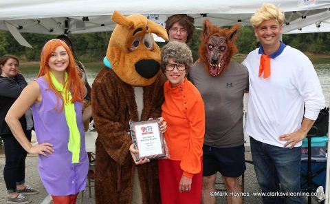 Scooby Doo (Captain Bill Harpel, City of Clarksville Mayor's Office) won Team Attire - Most Creative Costumes.