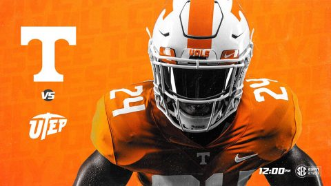 Tennessee Vols Football hosts UTEP this Saturday at Neyland Stadium. Kick off is at 11:00am CT. (UT Athletics)