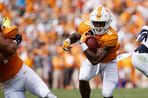 Tennessee Football running back Ty Chandler rushed for 158 yards and scored a touchdown Saturday against UTEP. (UT Athletics)