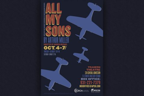 "APSU Department of Theatre and Dance to perform ""All My Sons"" October 4th-7th."