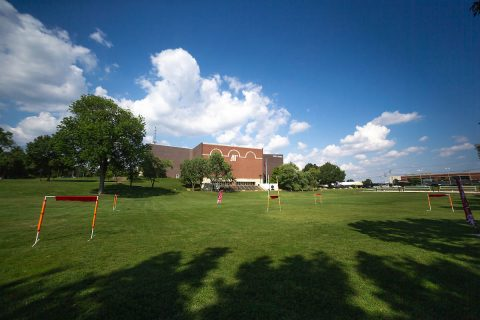 This is the layout of the first month's course. The Drone Club at APSU will fly on this course 2:30 p.m., Friday, Sept. 28, at the Dunn Center lawn. The drone racing season continues through the spring. (APSU student Denzil Wyatt)