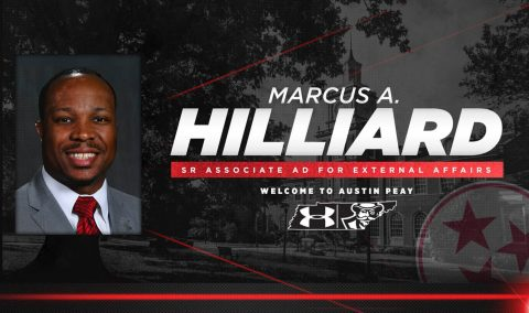 APSU Senior Associate Director of Athletics for External Affairs Marcus Hilliard
