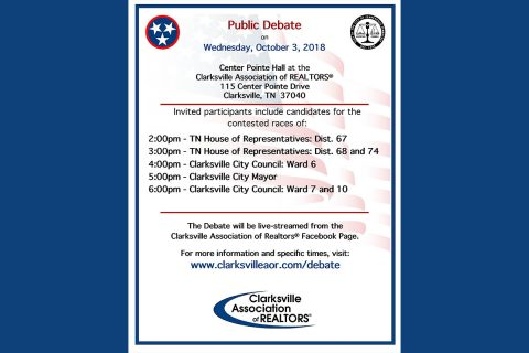 Clarksville Association of Realtors® Public Candidate Debate