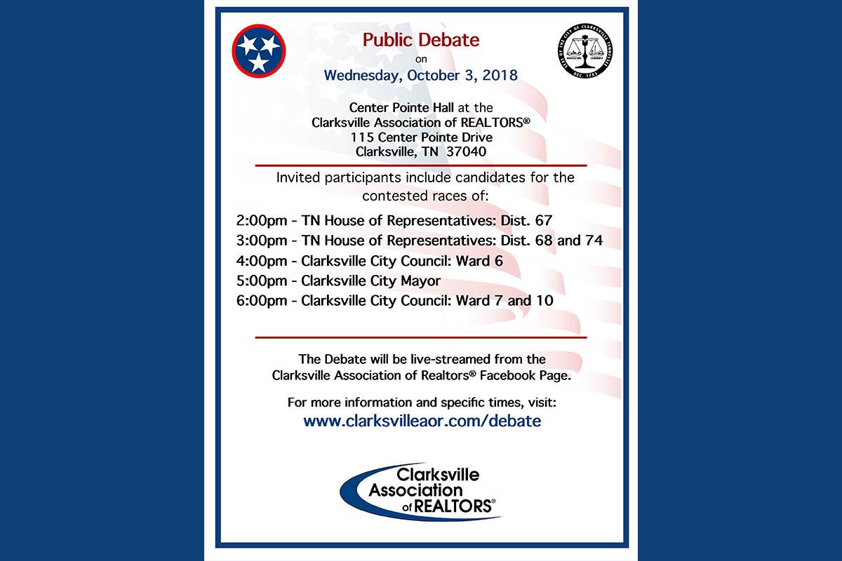 Clarksville Association of Realtors® Public Candidate Debate