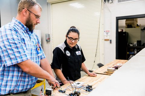 CMCSS Students get hands on career learning at Tennessee College of Applied Technology.