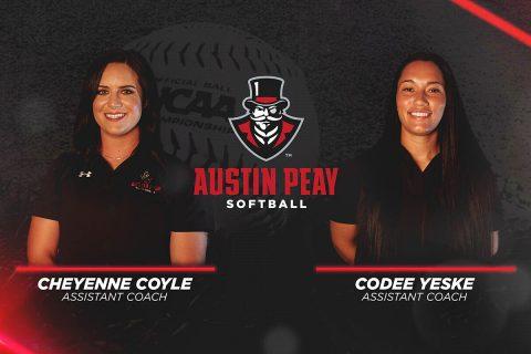Cheyenne Coyle, Codee Yeske join Austin Peay Softball staff. (APSU Sports Information)