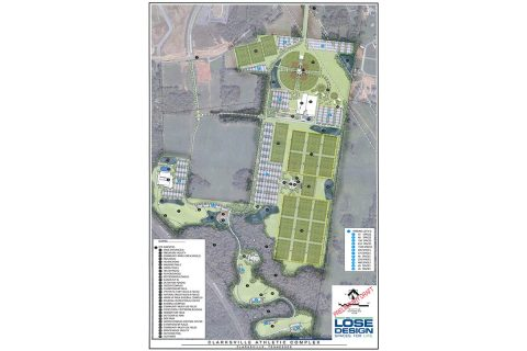 City of Clarksville Sports Complex Preliminary Site Plan