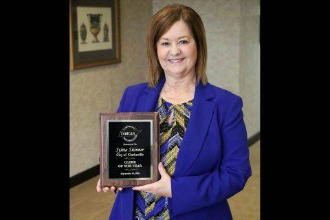 TAMCAR recognizes Clarksville's longtime City Clerk Sylvia Skinner.