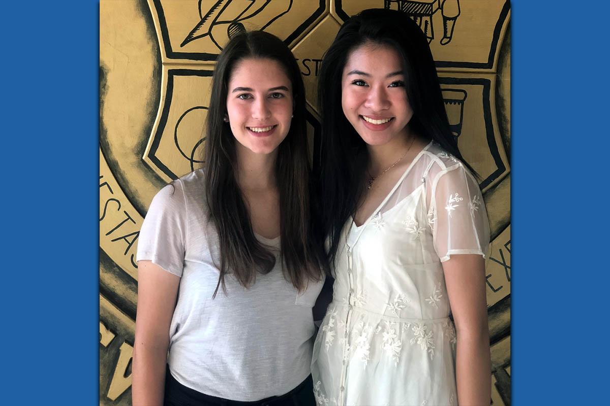 Clarksville Academy seniors (L to R) Cheyenne Deibert and Christy Zheng.