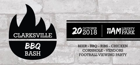 Clarksville BBQ Bash to be held October 20th, 2018.