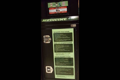 Clarksville Police Department Old and Unused Medicine Drop Box