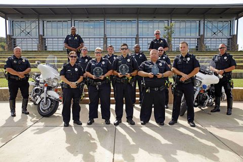 Clarksville Police Department's Traffic Unit earns Three Awards.
