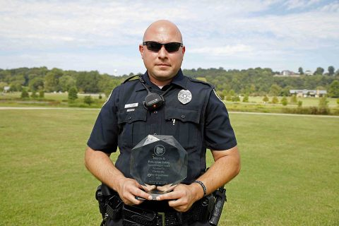 Clarksville Police Department's Traffic Unit won the 2018 Bicycle & Pedestrian Safety Award.