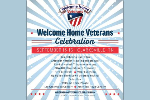 New in this years elcome Home Veterans Celebrationis Lee Greenwood, Remembering our Fallen, Hero Breakfast, & Valor Run.