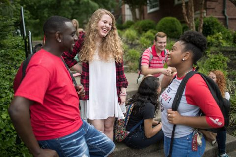 Current and prospective Austin Peay State University students meet and mingle during AP Day.