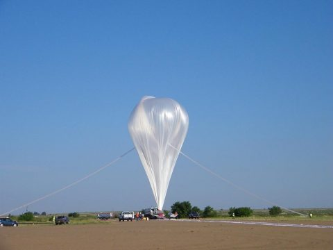 "The ""Big 60,"" NASA's largest scientific balloon was launched from Fort Sumner, New Mexico, on August 17th, 2018. (NASA)"