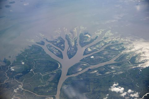 NASA's Jet Propulsion Laboratory's Delta-X mission will study the natural processes that maintain and build river deltas like the Wax Lake Delta in Louisiana, shown here. (NASA/JPL-Caltech)
