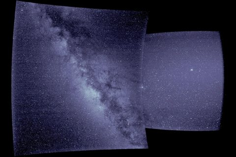 These are the first images from WISPR, short for the Wide-field Imager for Parker Solar Probe. Researchers studied the images to determine the instrument was pointed as expected, using celestial landmarks as their guide. The left image shows the Milky Way, looking at the galactic center. In the right image, there is a distinctive cluster of four stars near the right edge that is in the constellation Scorpius. (NASA/Naval Research Laboratory/Parker Solar Probe)