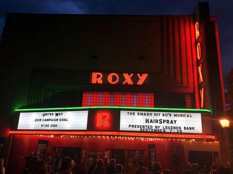 Roxy Regional Theatre's restored marquee.