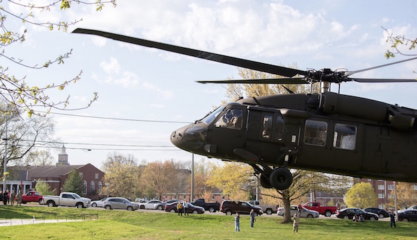 Last April, three Black Hawk helicopters landed on the Austin Peay State University campus.