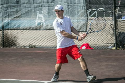 Austin Peay Men's Tennis freshman Jacob Lorino advances at ITA Ohio Valley Regionals in singles play. (APSU Sports Information)